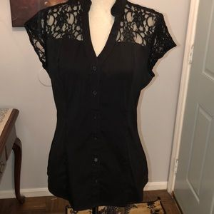 Nice black stretchy button down.